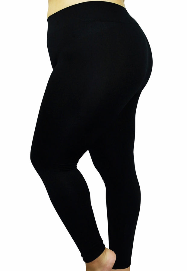 LEG-11 {Soft Haven} Black Butter Soft Full Length Legging BUTTER SOFT X-PLUS