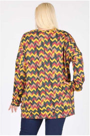 10-06 PLS-Q {Finding Sunshine} Yellow Green Cheveron Tunic *SALE!!* EXTENDED PLUS SIZE 3X 4X 5X