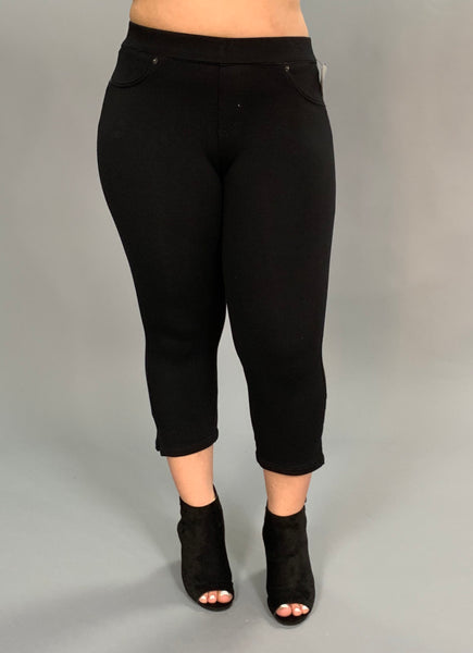 "BT-R ""Poplooks"" Black Capri Pants with Back Pockets SALE!"