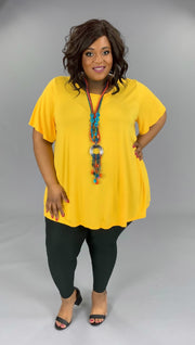 SSS-G (Bring On Summer) Gold Tunic with Rounded Hem Extended Plus 3X 4X 5X 6X