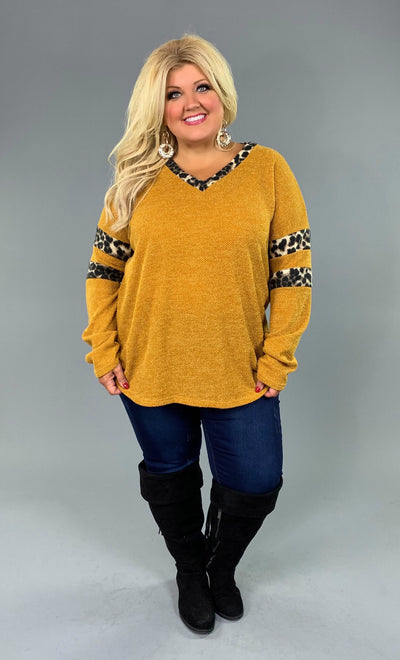 CP-C {Give Me A Reason} Mustard Top Leopard Contrast