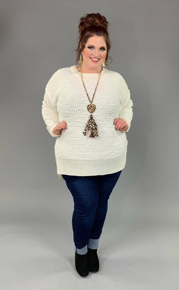 SLS-I {Simple Solution} Ivory Popcorn Sweater SALE!!
