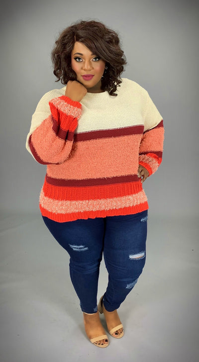 "CP-J {Obviously Right} ""UMGEE"" Thick Knit Striped Sweater  SALE!!"