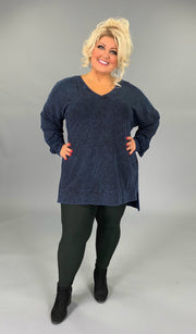 SLS-S {Simply Perfect} Sapphire Mineral Wash V-Neck Top