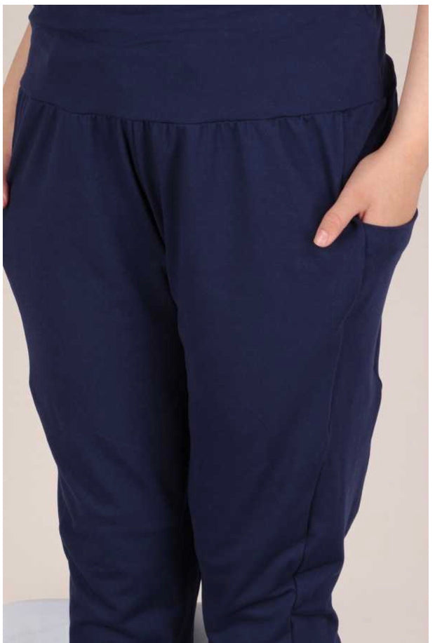 27 BT-A {Game Over} Navy Blue Yoga Pants EXTENDED PLUS SIZE 4X 5X 6X