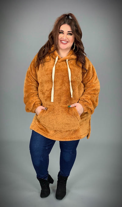 HD-S {The Cozy Touch} SALE!! Desert Mustard Faux Fur Hoodie SALE!
