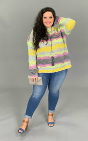 CP-X {Thanks To You} Knit Sweater with Pastel Spring Colors  SALE!!