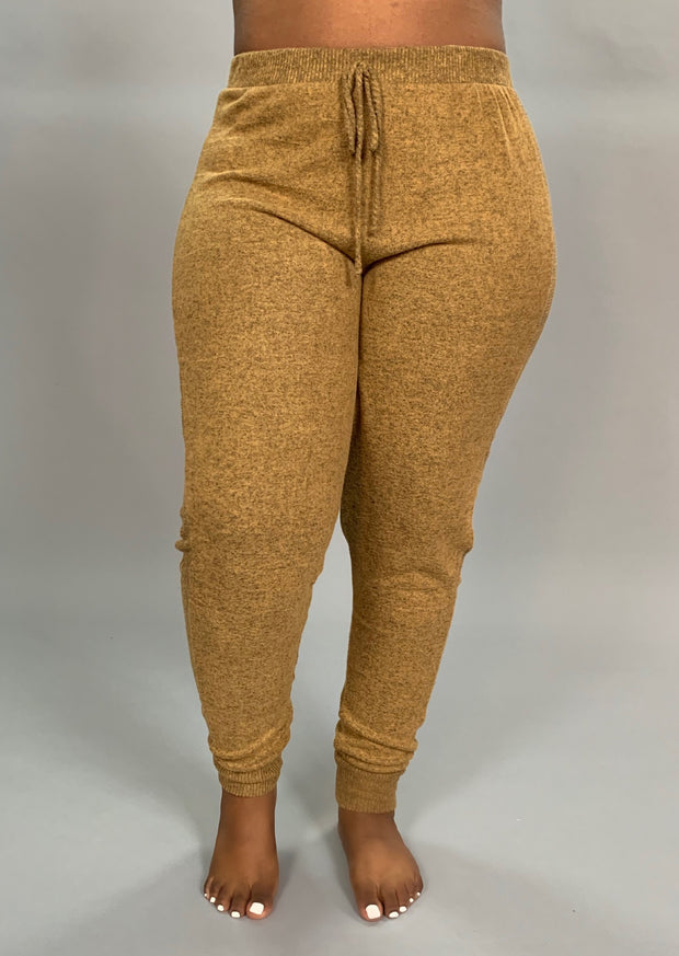 BT-J {The Best Of Fall} CAMEL Soft & Stretchy Active Pants