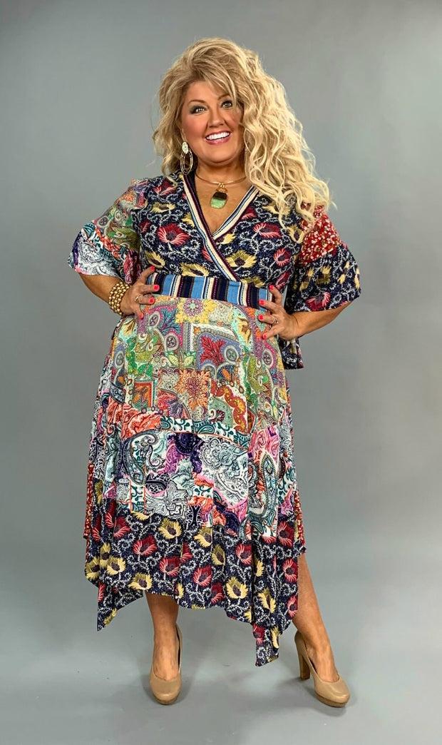 "LD-J {Your Best Life} ""UMGEE"" Floral Print Bohemian Dress"