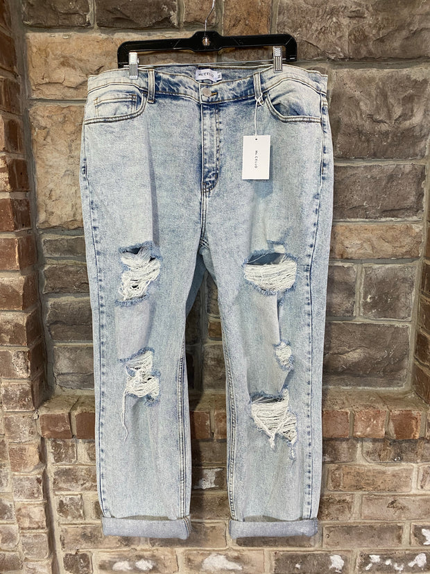 BT-N {Ask Me Out} Ms. Cello Brand Distressed Crop Skinny Jeans EXTENDED PLUS SIZE 14 16 18 20 22 SALE!!
