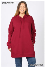HD-G {Having A Blast} Cabernet Long Hoodie with Pockets SALE!