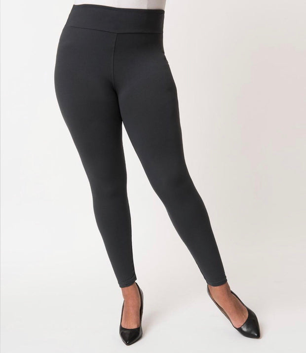 LEP/T Fast & Furious Solid Charcoal Leggings