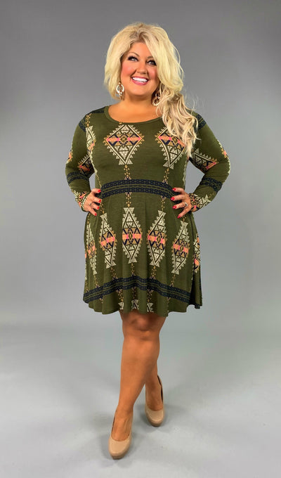 PLS-P {Let's Be Friends} Ethnic Print Dress with Pockets SALE!!