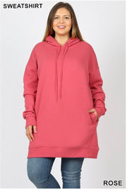 HD-I {Having A Blast} ROSE Long Hoodie with Pockets SALE!