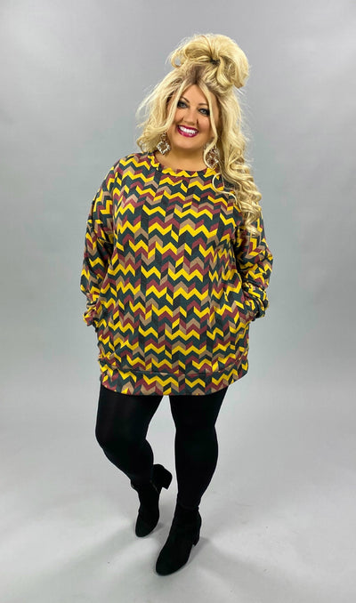 14 PLS-Q {Finding Sunshine} Yellow Green Chevron  *SALE!!* EXTENDED PLUS SIZE 3X 4X 5X
