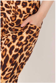 27 BT-F {Stay Behind} Mocha Leopard Yoga Pants  EXTENDED PLUS SIZE 4X 5X 6X