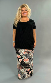 SSS-A {Go Figure} Black V-Neck Top with Overlap Detail  PLUS SIZE 1X 2X 3X SALE!!