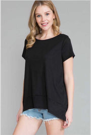 61 SSS-Y {Brighten The Night} Black Knit Top EXTENDED PLUS 4X 5X 6X