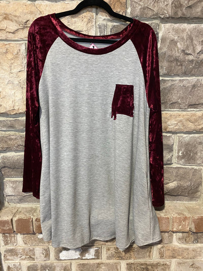 GT-C Gray/Burgundy Velvet with  Alabama State Patch  FLASH SALE!!