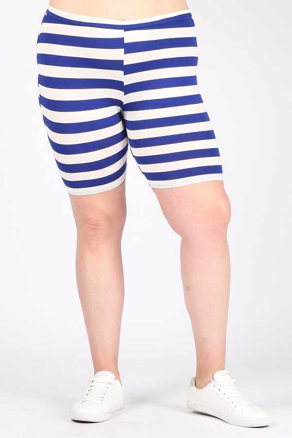 SET-E {Feeling Calm} Royal Blue & Ivory Striped Lounge Set EXTENDED PLUS SIZE 3X 4X 5X SALE!!