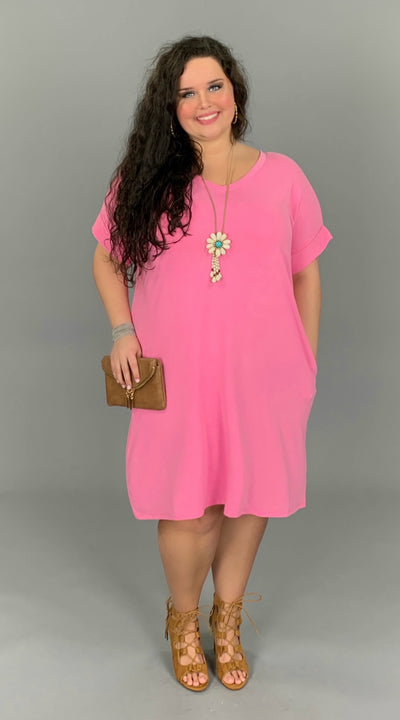 SSS-A {You're My Type} PINK V-Neck Dress with Pockets