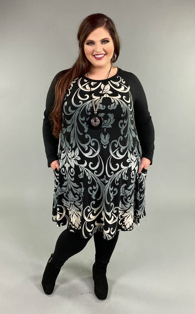 CP-D {Heart Full Of Wonder} Black Dress Ombre Designs EXTENDED PLUS SIZE 3X 4X 5X 6X