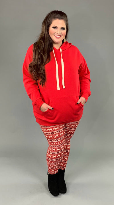 HD-R {Let's Be Casual} Red Sweatshirt Hoodie with Front Pocket SALE!!