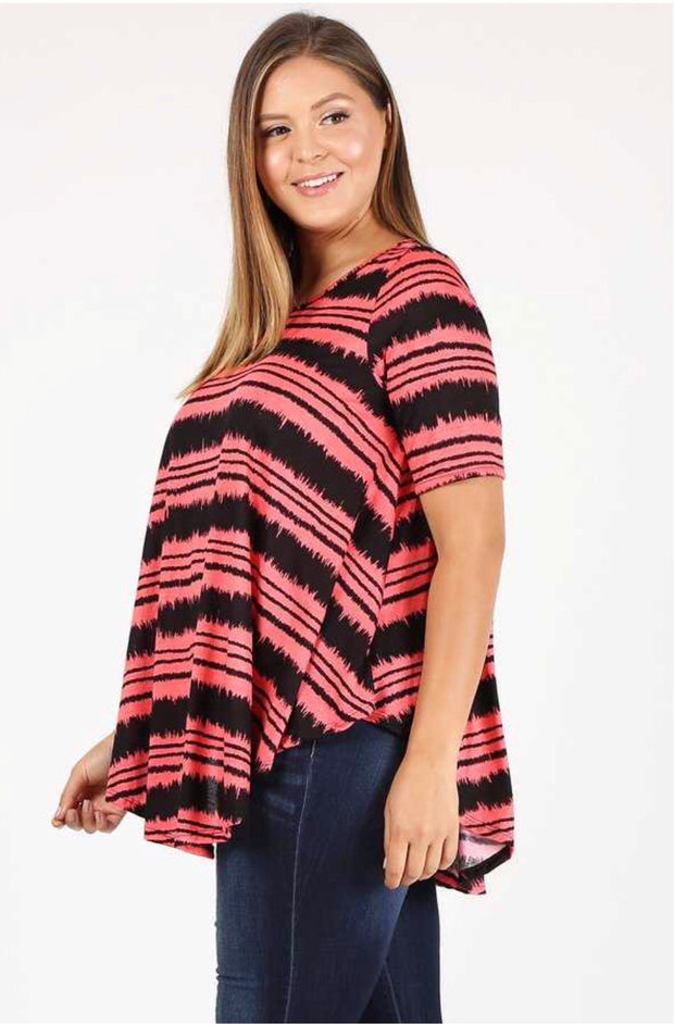 PSS-X {So Much In Common} Coral/Black Top Extended Plus