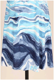 SV-B {Key Largo} Navy/Aqua/White Wave Design Dress PLUS SIZE 1X 2X 3X SALE!!
