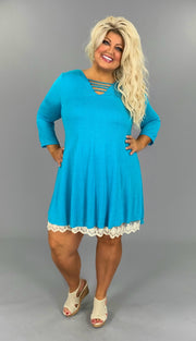 SD-T {Got The Blues} UMGEE Tunic or Dress with Built-In Slip SALE!!