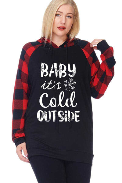 "36 HD-B {Cold Outside} SALE!!  ""Baby It's Cold Outside"" Hoodie PLUS SIZE XL 2X 3X"
