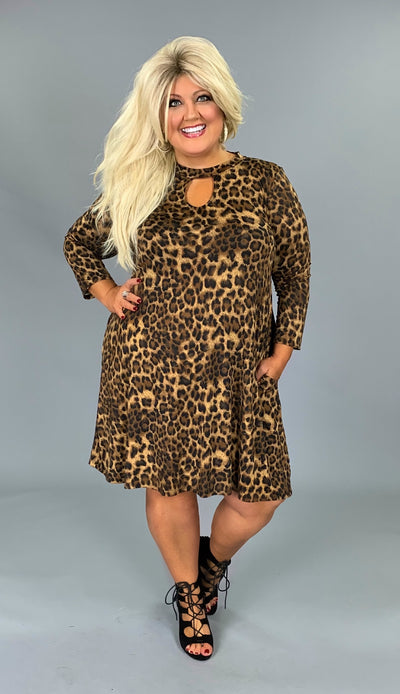 PQ-D {Take Me Away} Leopard Print Dress with Keyhole Detail