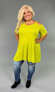 "OS-N ""Umgee"" Apple Green Oversized Open Shoulder Tunic  FLASH SALE!!"