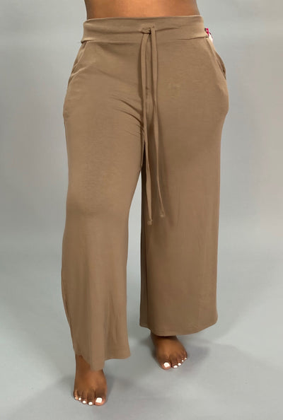 BT-G {Live Simply} Mocha Lounge Pants W/ Drawstring