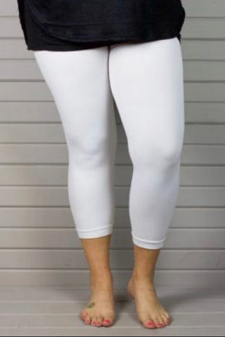 "LEG/SD-""Yelete"" White (92% Poly/8% Spandex) Leggings"