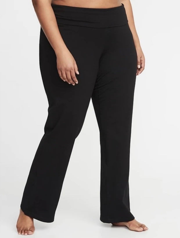 BT-F {Give Me A Chance} Black High Waist Yoga Pants PLUS SIZE