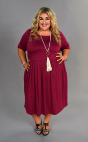 SSS-F (One Step Higher) Burgundy Dress With Empire Waist