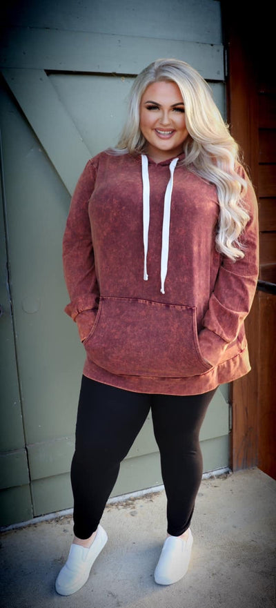 HD-M {Bonfire Nights} Persimmon Mineral Wash Hoodie SALE!!