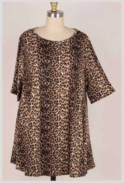 65 PSS-M {Path To You} Leopard Print Tunic