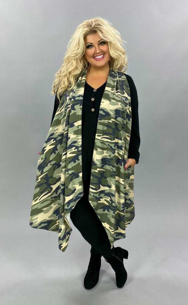 21 OT-X {Combat} Green Camo Soft Knit Vest PLUS SIZE XL 2X 3X