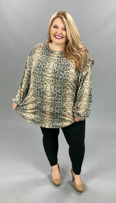 11-04 PLS-C {Wild For You} Snake Skin Tunic EXTENDED PLUS SIZE 3X 4X 5X
