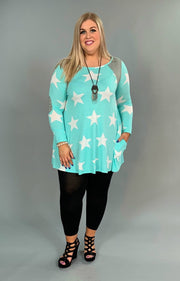 CP-U Mint/White Stars with Side Pockets FLASH SALE!!