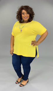 SSS-A (Gotta Have It) SALE!! Yellow Top With Cuffed Sleeve PLUS SIZE 1X 2X 3X