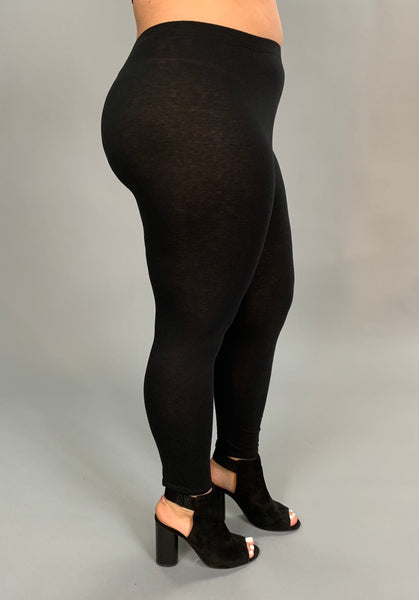 LEG/I- BOZZOLO Black Leggings 95% Cotton/5% Spandex