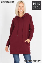 HD-F {Having A Blast} Burgundy Long Hoodie with Pockets SALE!