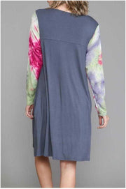 14 CP-Z {Not Today} Grey with Purple Green Tie Dye Dress EXTENDED PLUS SIZE 4X 5X 6X
