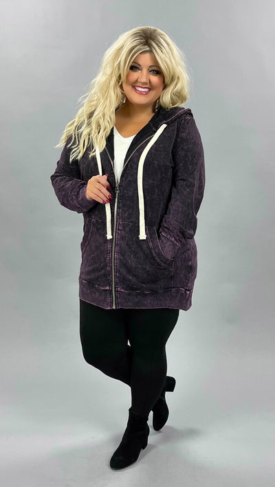HD-R {Worth The Wait} Blackberry Mineral Wash Hoodie Jacket SALE!!