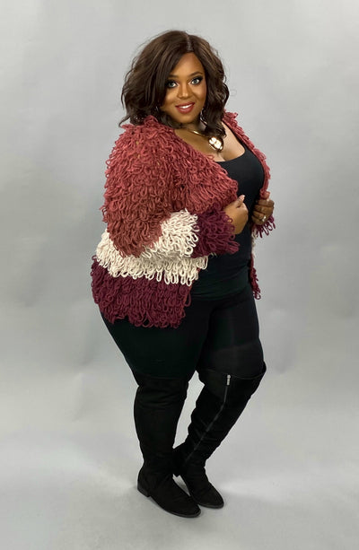 23 OT-C {Think It Over} SALE!! Mauve Plum Cardigan PLUS SIZE XL/2X 2X/3X