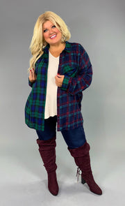 "CP-N {Talk To Me} ""UMGEE"" Plaid Contrast Button-Up Top SALE!!"