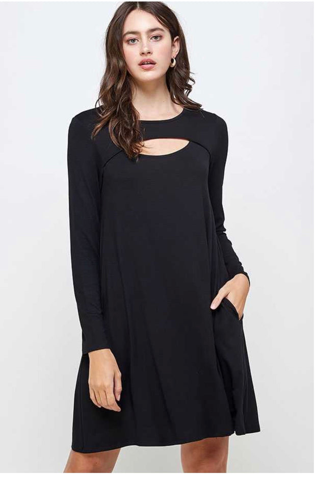 20 SLS-B {Take Me Out Tonight} Black Open Neck Dress PLUS SIZE XL 2X 3X